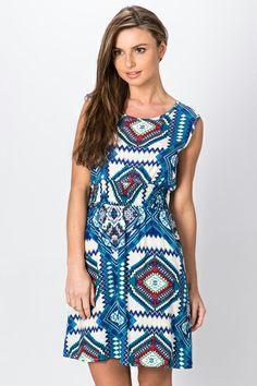 Aztec Print Skater Dress Dress P, Skater Dress, New Dress, Wardrobe Ideas, Aztec, Casual, Fashion, Moda, Fashion Styles
