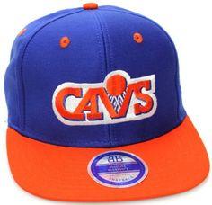 Cleveland Cavaliers Cavs Flat Bill LOGO Style Snapback Hat Cap Blue Orange NBA. $14.99