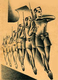 Italian fascist poster