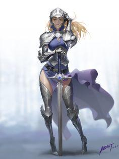 Knight Comp The Boob Armor Returns Fantasy Character Design, Character Design Inspiration, Character Art, Dnd Characters, Fantasy Characters, Female Characters, Female Armor, Female Knight, Fantasy Armor