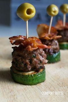 Mini Paleo Bacon Burger Sliders