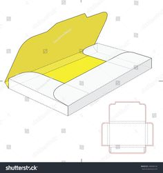 envelope gift box, Folder Sleeve With Die Cut Template Stock Vector Illustration 248368126 : Shutterstock Diy Gift Box, Diy Box, Gift Boxes, Box Packaging, Packaging Design, Envelope Diy, Diy Paper, Paper Crafts, Foam Crafts