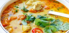 Archívy Recepty - Page 16 of 106 - Babičkine rady Soups And Stews, Cheeseburger Chowder, Thai Red Curry, Ham, Soup Recipes, Food And Drink, Treats, Cooking, Health