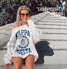 Sorority Rush Shirts, Delta Zeta Shirts, Sorority Outfits, Kappa Delta, College Sorority, Sorority Life, Greek Shirts, University Tees, Greek Clothing