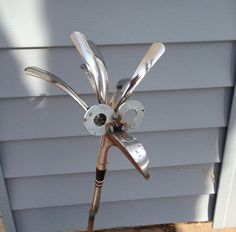 Golf Driver/Iron Bird Garden sculpture Yard Art on Etsy, $30.00