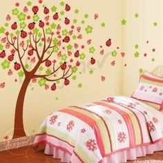 Lady Bug Tree Wall Sticker Mural - Wall Sticker Outlet. ohh, so cute. I love this one @Lizzy McDearmid
