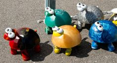 Bowling Ball Yard Art Ladybug | Another vendor sold fresh eggs. Unfortunately, I had just purchased a ...