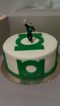 green lantern theme cake