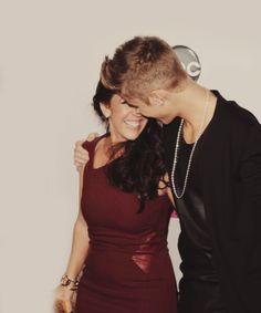 The beautiful Pattie Mallette and Justin Bieber