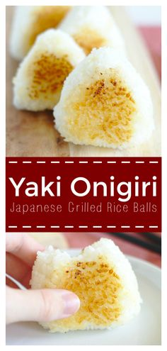 Yaki Onigiri These Japanese grilled rice balls with a miso butter glaze are an easy side dish or addition to any bento box or meal japanese recipe yaki onigiri grilled sidedish sides Easy Japanese Recipes, Japanese Dishes, Asian Recipes, Japanese Meals, Gluten Free Japanese Recipes, Japanese Side Dish, Japanese Bento Box, Thai Recipes, Recipes Dinner