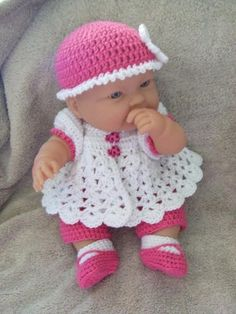 Crochet Pattern for 14 to 15 Inch Berenguer Baby A by alcarrico32