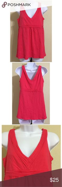 J. Crew Top Size S J. Crew Women's Blouse Size S Red, Sleeveless V Neck V Back Pleated Collar & Strap Pleated Band Under Bust Machine Washable 100% Cotton Armpit to Armpit Approx. 17 Inches Length From Top Of Strap Approx. 25 Inches Shoulder Approx. 15 Inches Compare Measurements To Your Own Well Fitting Garment To Ensure A Great Fit New With Tag J. Crew Tops Tank Tops