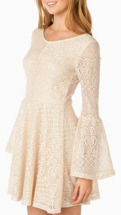 Juliette Lace Dress in Cream