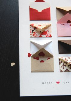 Cute meta concept: Tiny Envelopes with Custom Messages. $6 from lemondrop09 on etsy.