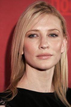 Cate Blanchett, flawless skin, Nude lip.
