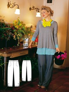 Wide Leg Pants (Plus Size) 04/2011 #burdastyle #sew #sewing #diy