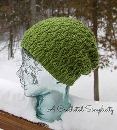"Ravelry: ""Winter Waves"" Reversible Beanie & Slouch pattern by Jennifer Pionk"