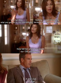 He got me nothing ~ Desperate Housewives Quotes ~ Season Episode Would I Think of Suicide? Desperate Housewives Quotes, Teri Hatcher, I Got You, Housewife, Movie Quotes, Movies And Tv Shows, Movie Tv, Tv Series, Fangirl