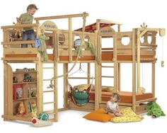 """""""moor"""" crazy beds... my older daughter and young son still share bedroom space. something like this would be awesome to build for them."""