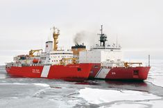 Icebreakers CCGS Louis S. St-Laurent and USCGC Healy on a joint exercise in the Arctic