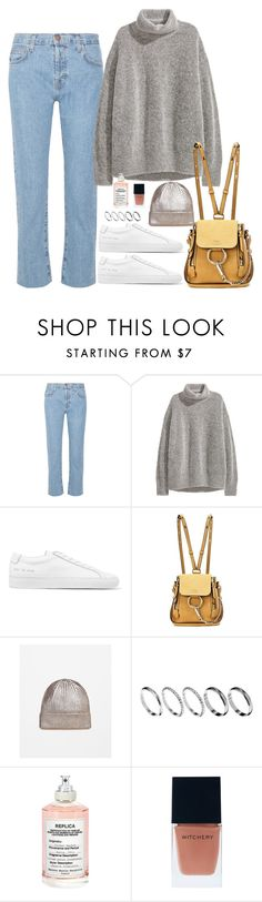 """Untitled #1862"" by samikayy76 on Polyvore featuring Current/Elliott, H&M, Common Projects, Chloé, ASOS, Maison Margiela and Witchery"