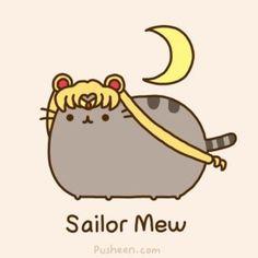 pusheen cat | Pusheen the cat ~ Sailor Mew ~ Sailor Moon / Ha - Juxtapost