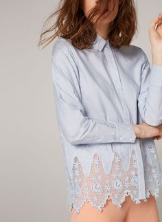 Embroidered shirt - View all - New in - Uterqüe United Kingdom