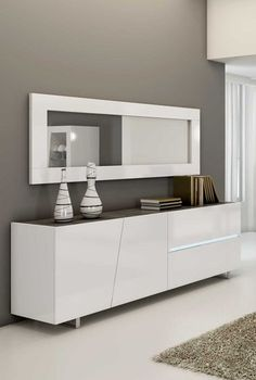 Discover our Sideboard white lacquered 2 doors 1 drawer design JOSHUA, available . Dining Room Sideboard, White Sideboard, Dining Table, Drawer Design, Cabinet Design, Home Room Design, Dining Room Design, Crockery Cabinet, Deco Buffet