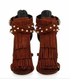 Giuseppe Zanotti suede sandals | ricardo.gr