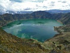 Quilotoa Loop, Ecuador. I wish it had been this sunny when I went!