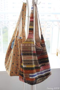 10 Brilliant Projects to Upcycle Leftover Fabric Scraps - Nedette Easy Sewing Patterns, Bag Patterns To Sew, Diy Tote Bag, Tote Bags, Diy Bags, Free Sewing, Sewing Tips, Sewing Hacks, Sewing Tutorials
