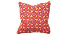 Brighten up any space with this colorful patterned pillow. The feather-and-down fill ensures long-lasting loftiness. $59