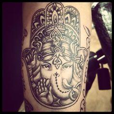 Mano de fatima con ganesha #tattoo #tatuaje #tat #tatuajes #fuengirola #marbella…