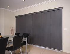 Panel slides for the folding doors to patio