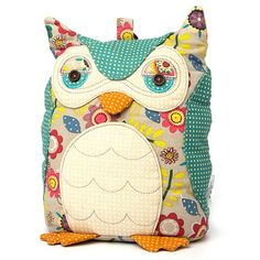 Owl Door stop, looks like the one I saw for sale at holland v, I bet I could make this and fill it with rice to weigh it down!