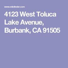 4123 West Toluca Lake Avenue, Burbank, CA 91505