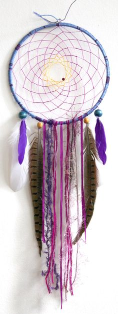 Indigo Indian Princess Native Woven Dreamcatcher by eenk on Etsy $49.00