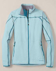 New Eddie Bauer First Ascent Women's Sandstone Soft Shell Jacket Sky Blue NWT