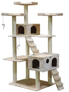 Go cat Club Cat Tree F2040 - Beige - 72 in. ** Wow! I love this. Check it out now! (This is an amazon affiliate link. I may earn commission from it)