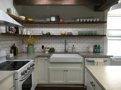 Simple Farmhouse Kitchen. Stone House Revival - Season One.