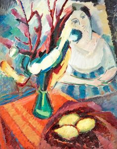 """Agnes Cleve 1876-1951 """"Still Life with red Cloth"""""""