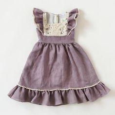 Flutter Dress - Lavender Linen