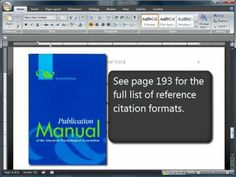 APA Format Citations-Sixth (6th) Edition for all the Education and Psychology majors who want to make sure that there papers are formatted correctly for an APA paper.