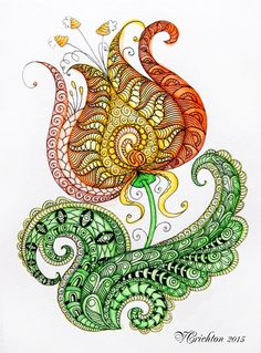 Viktoriya Crichton_Ukraine Nikolaev_Zentangle, graphic, hand-made, pattern, tangle, zendoodle