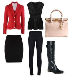 Tips on how to wear riding boots in spring. It´s never too late to wear riding boots in spring. Here are four gorgeous outfit examples. Winter Fashion Outfits, Work Fashion, New Outfits, Fall Outfits, Black Outfits, Women's Fashion, Office Outfits, Work Outfits, Fashion Ideas