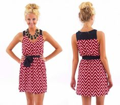 Gamecock Girl Quick Poll - Is this chevron dress a Gamecock gameday worthy dress... Vote on the blog!