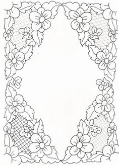 Floral Embroidery Patterns, Cutwork Embroidery, Hungarian Embroidery, Embroidery Transfers, Machine Embroidery Designs, Parchment Design, Parchment Craft, Bordado Popular, Advanced Embroidery