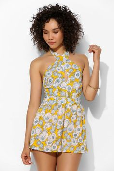 Pins And Needles Wrapped Cutout-Front Romper #urbanoutfitters
