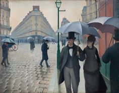 Gustave Caillebotte, Paris Street, Rainy Day, 1877, oil on canvas, The Art Institute of Chicago, Charles H. and Mary F. S. Worcester Collection.
