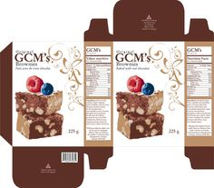 brownie mix packaging